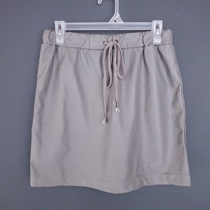 FOREVER 21 Faux Leather Mini Skirt Gray Cute M